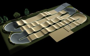 3D view of BMX track Vechta