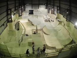 Indoor BMX riding park